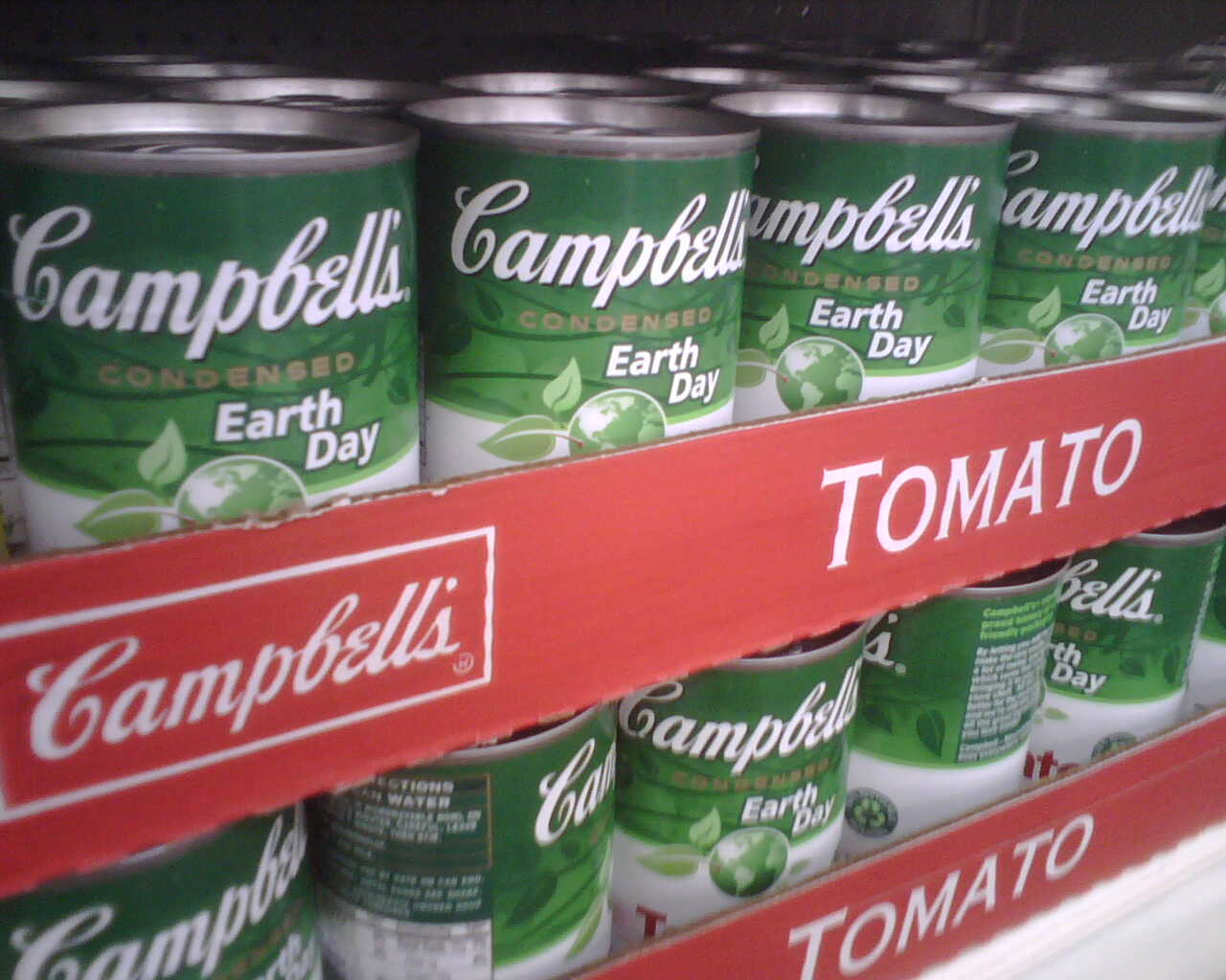 campbell soup green earth day can