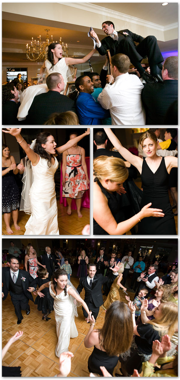wedding guests dancing and fun