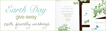giveawayad earth friendly weddings
