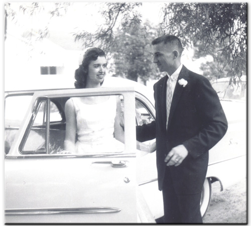 nelson doucet and jenora doucet wedding 1958