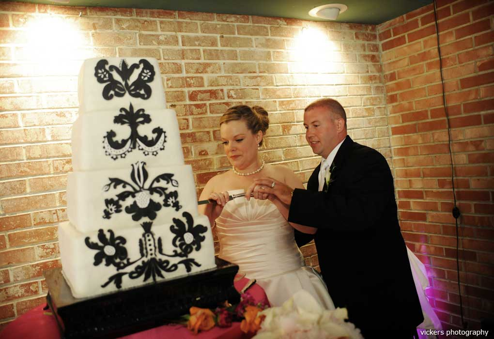 tall wedding cake