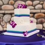 lisa miller and jason lovejoy square wedding cake