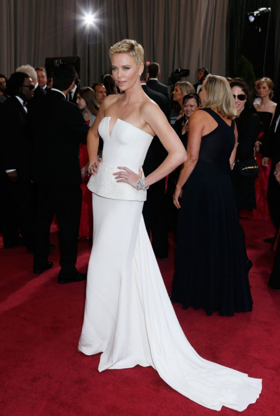 B Id 360099 charlize 550x817 oscar 2013 gowns worthy of weddings