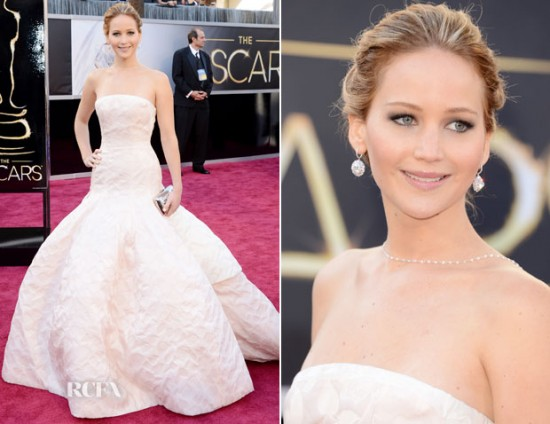 oscars jennifer lawrence 550x424 oscar 2013 gowns worthy of weddings