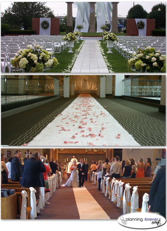 new ideas for wedding aisle runners