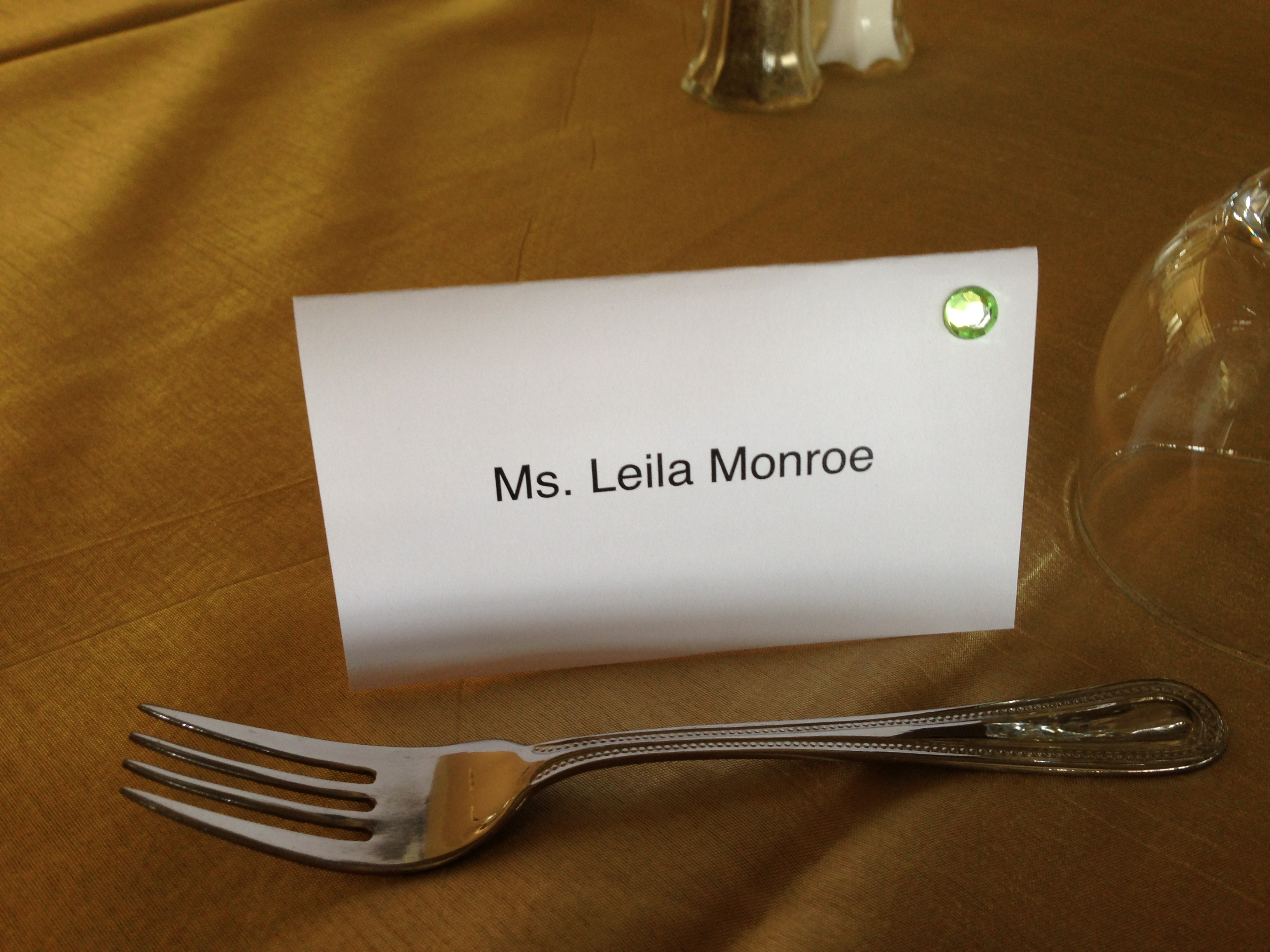 vegetarian meal place card