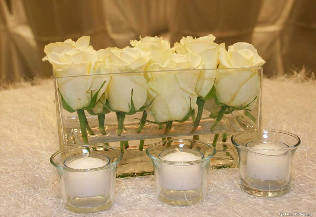 White roses wedding
