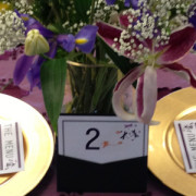 Gold chargers wedding