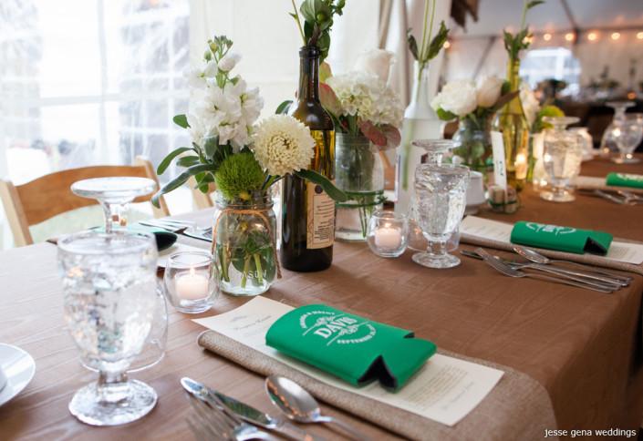 koozie wedding favors