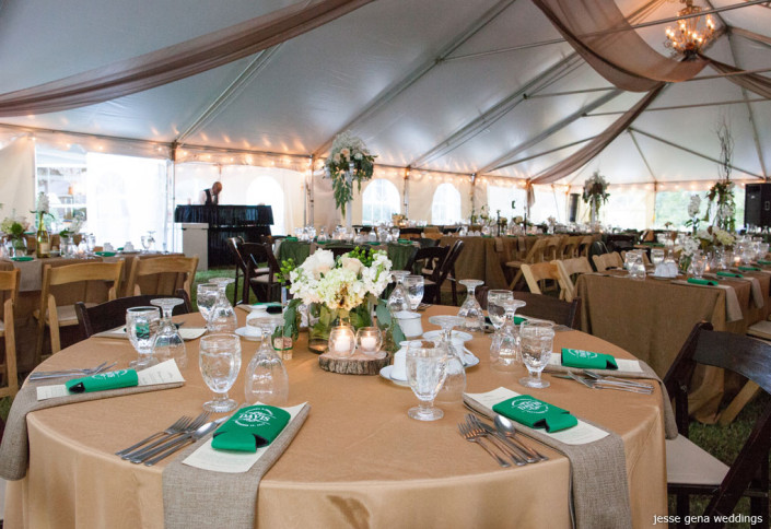 tent wedding with rustic theme