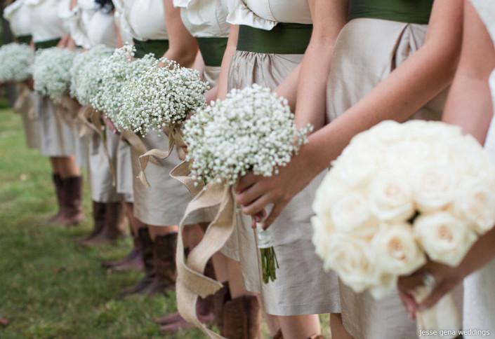 baby breath bridesmaids bouquets