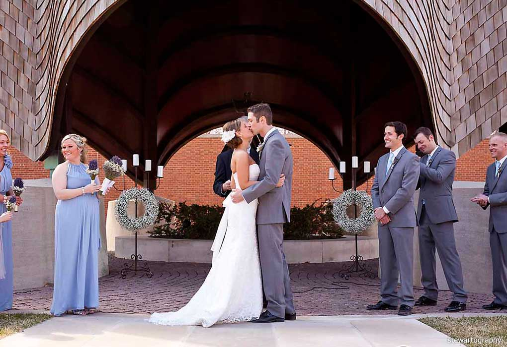 roofless church wedding
