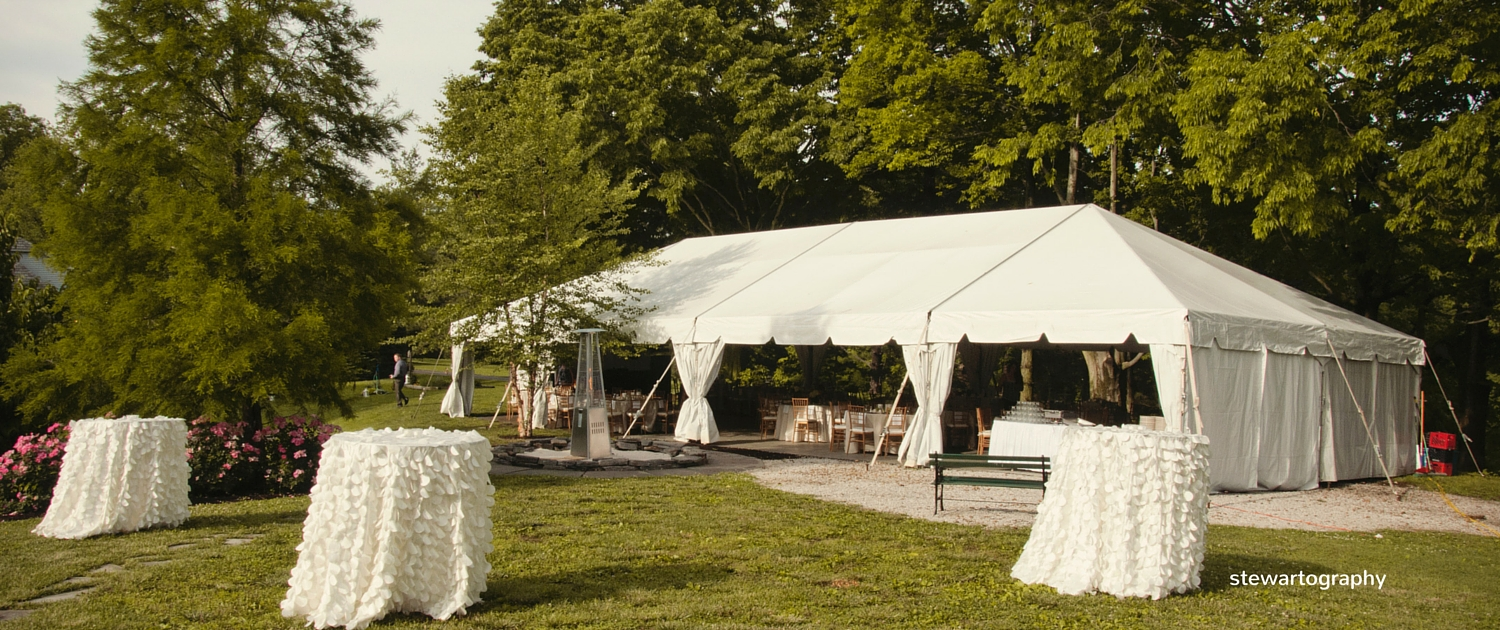 backyard tent wedding reception & charming backyard wedding | evansville wedding planner