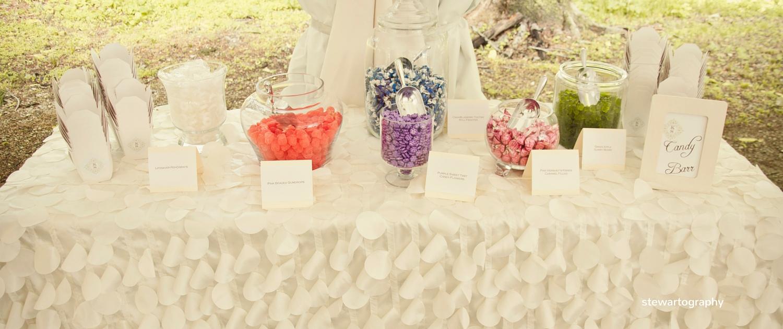 candy bar wedding reception