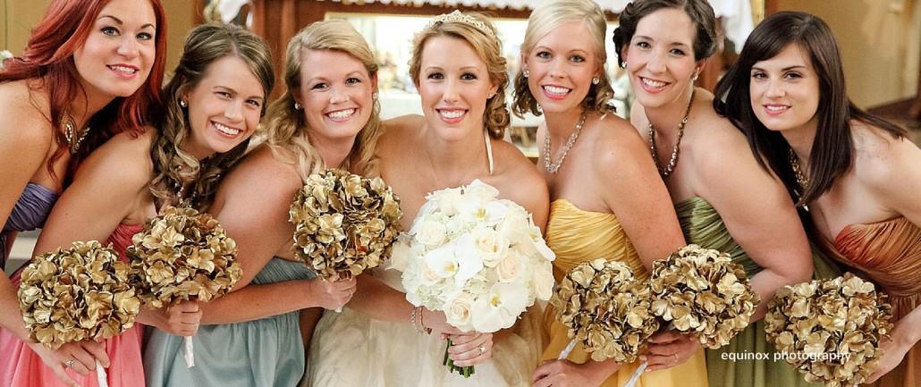 gold bouquets