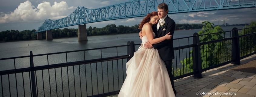 owensboro bridge wedding photo