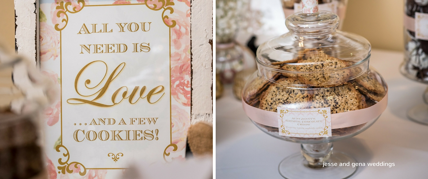 wedding cookie display