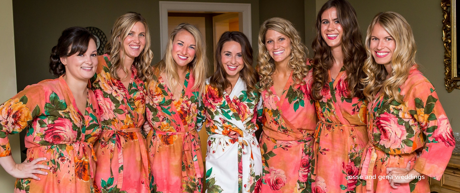 matching robes wedding party