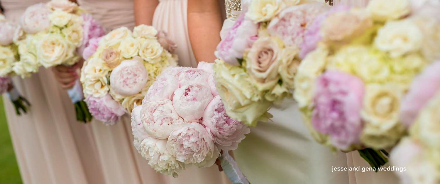 blush peonies bridal bouquets